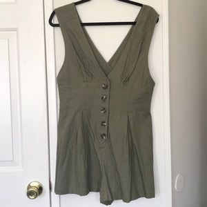 New Olive Green Romper | Large